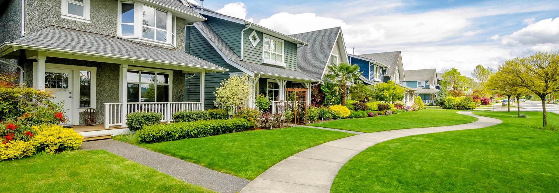 row of houses in Sacramento California